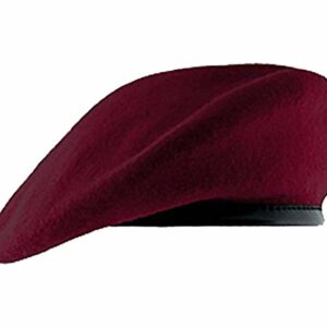 Maroon Beret Pre Shaped, Pre Formed Inspection Ready
