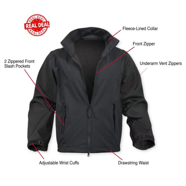 Black Soft Shell Police Uniform Jacket